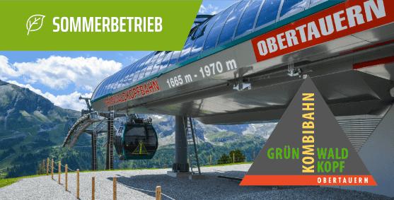 Grünwaldkopfbahn im Sommer, Obertauern