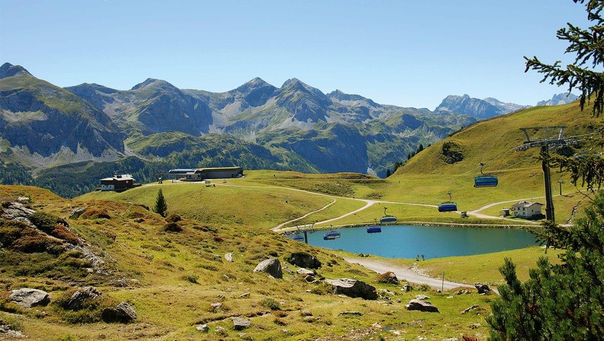 Sommerbetrieb der Grünwaldkopfbahn - Bergbahnen Obertauern