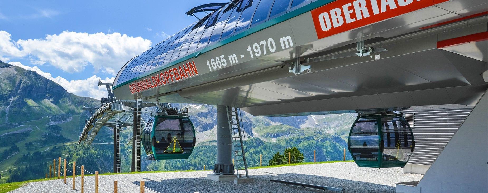 Sommerbetrieb der Grünwaldkopfbahn in Obertauern