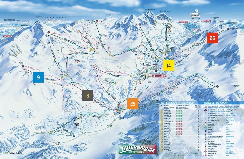 Pistenpanorama - Skigebiet Obertauern, Salzburg