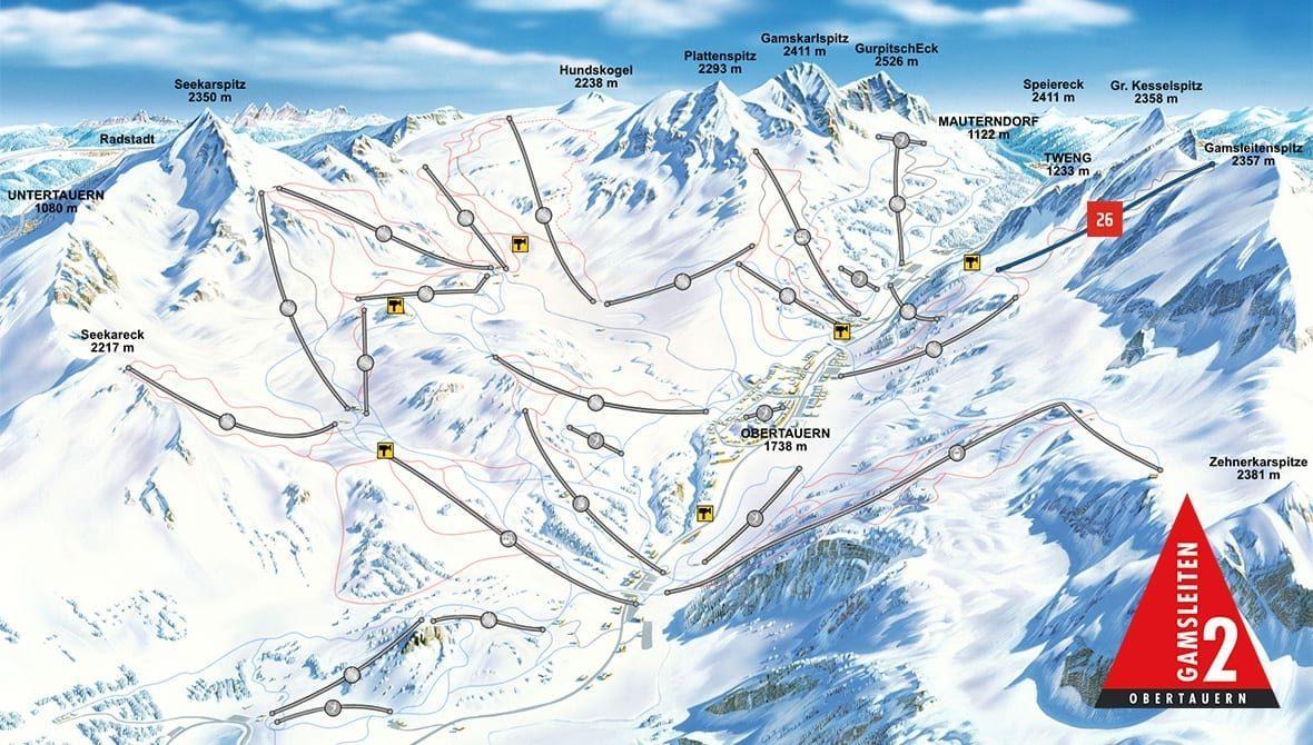 Pistenplan - Gamsleiten 2, Obertauern